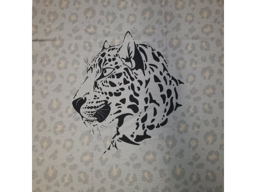 Panel - teplákovina, gepard šedý