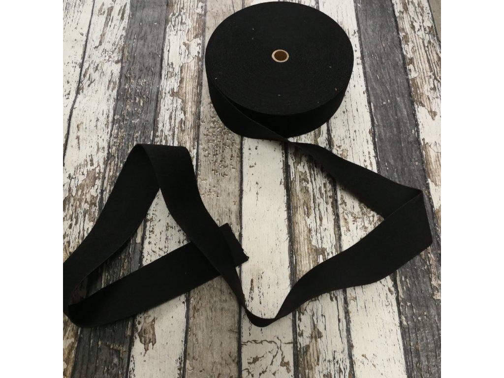 Hladká pruženka 40 mm - černá