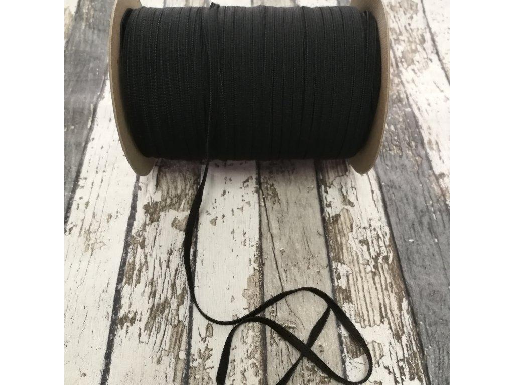 Hladká pruženka 5 mm - černá