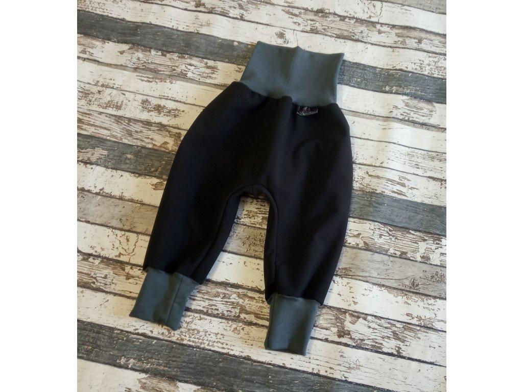 Softshellové kalhoty Yháček, zimní, černá/antracit