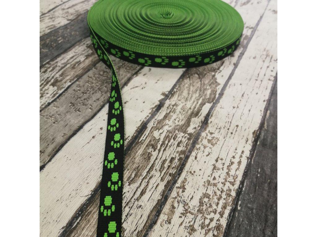Popruh ťapky neon zelené