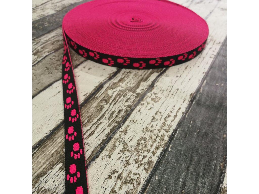 Popruh ťapky neon růžové