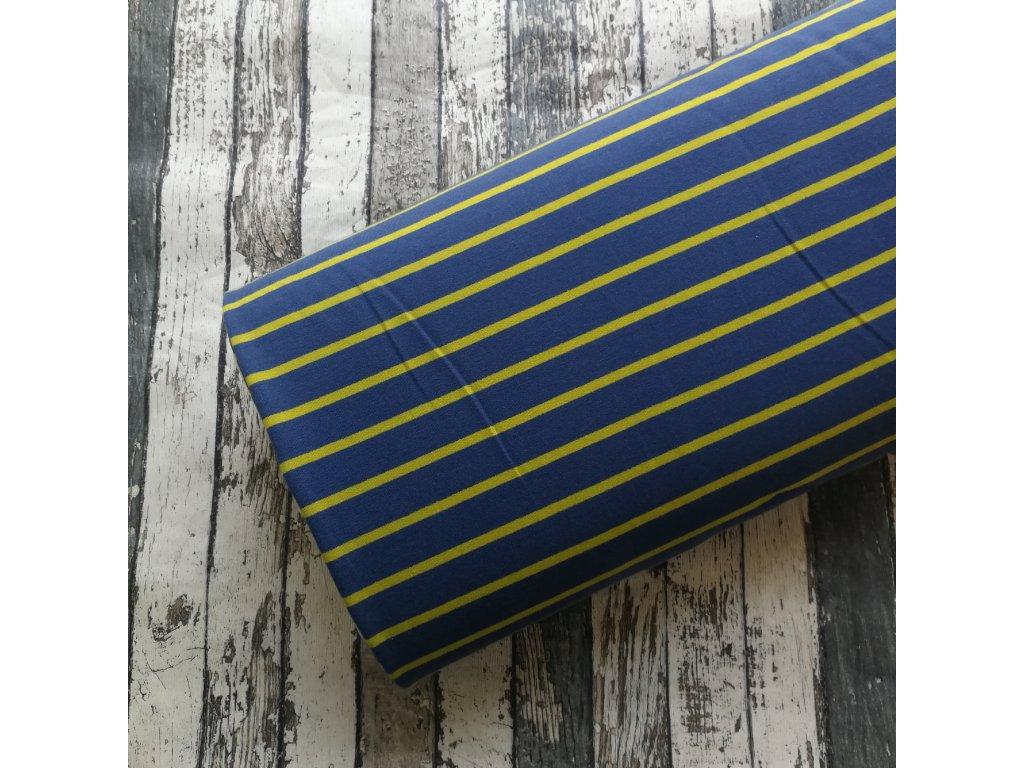 Teplákovina, Pruhy žluté na modré