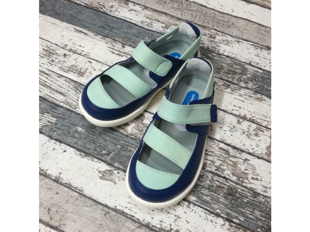 Boty Little blue lamb, Green sandals