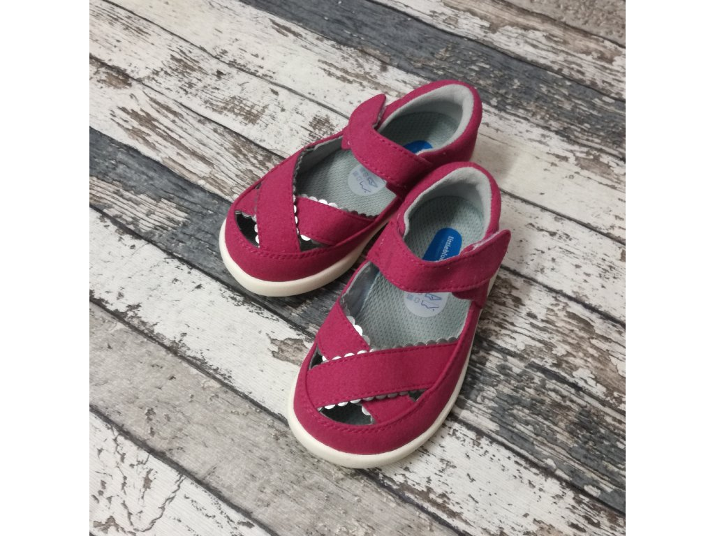 Boty Little blue lamb, Pink girls sandals