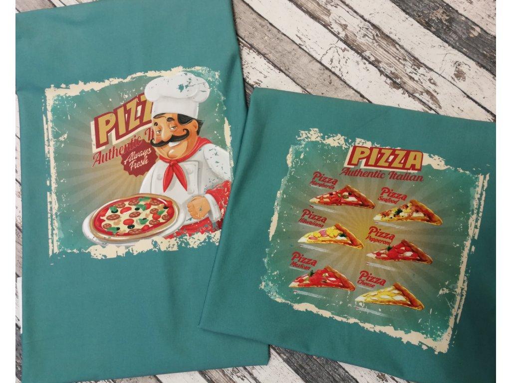 Panel panoramatický - úplet, pizza 70 cm