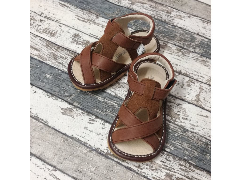 Boty Little blue lamb, Toddler brown shoe