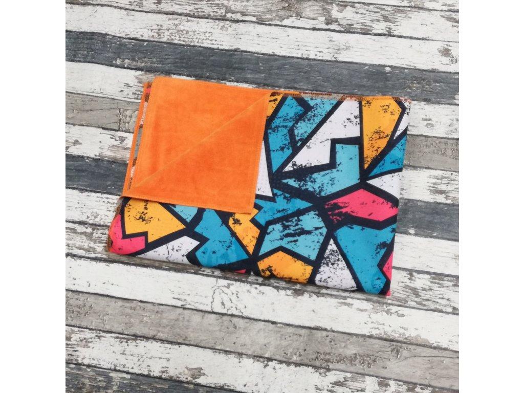 Přebalovací podložka Yháček, kočárkovina, graffiti