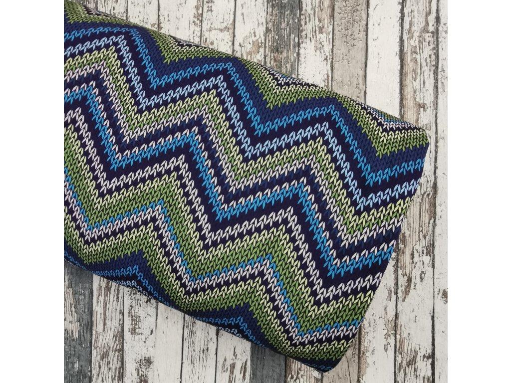Softshell zimní, svetřík modro-zelený