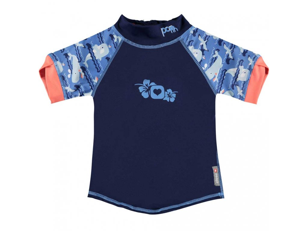 50122634 Pop in Rash Vest Short Sleeve Whale Front 1000x1000