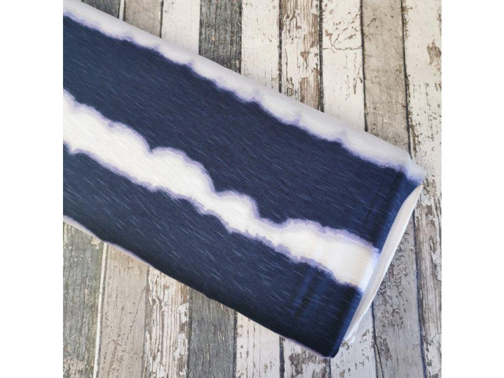 Viskóza úplet, navy vlny s fialovou