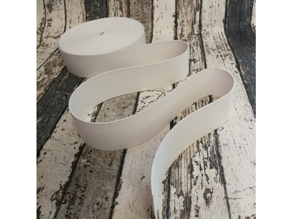 Hladká pruženka 50 mm - bílá