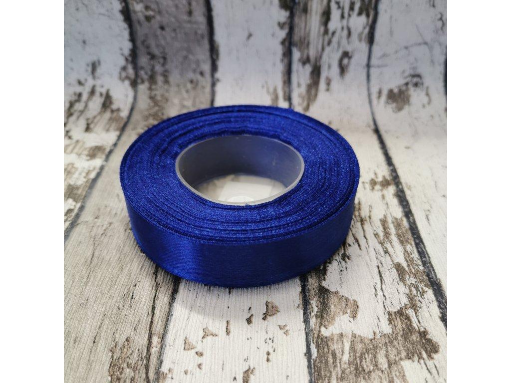 Stuha jednobarevná, královsky modrá, 18 mm