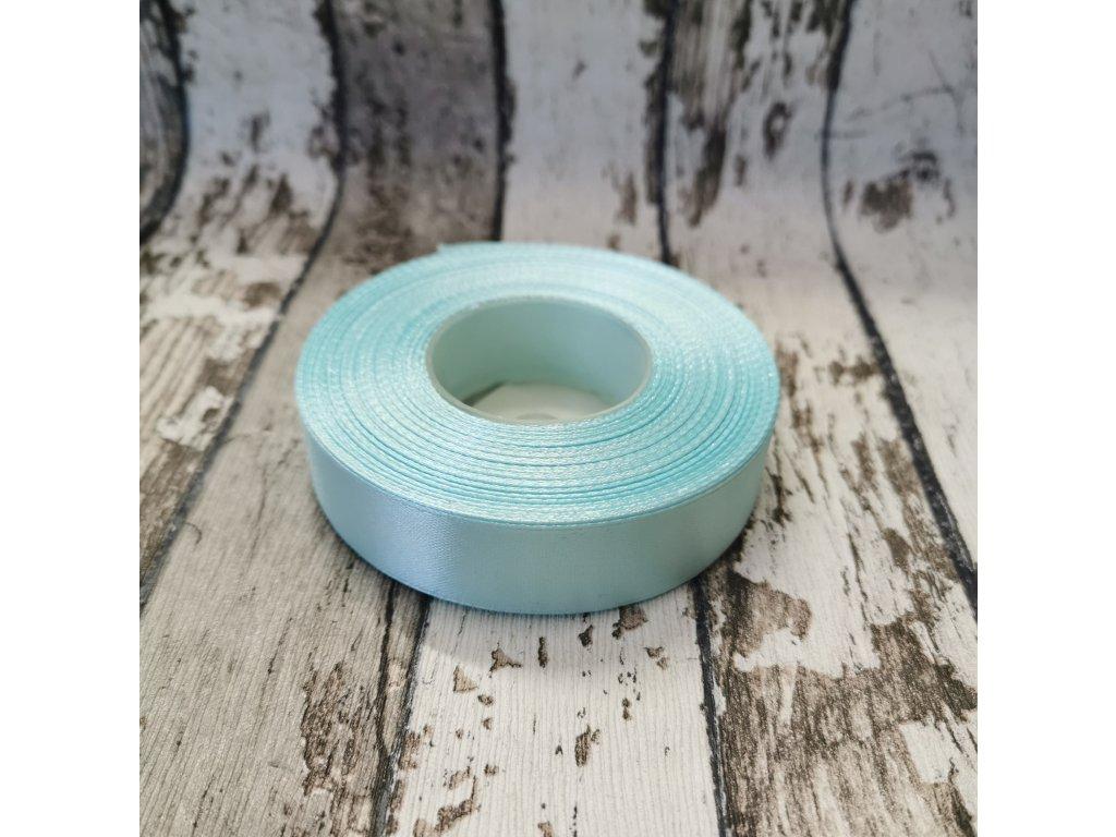 Stuha jednobarevná, aqua, 18 mm