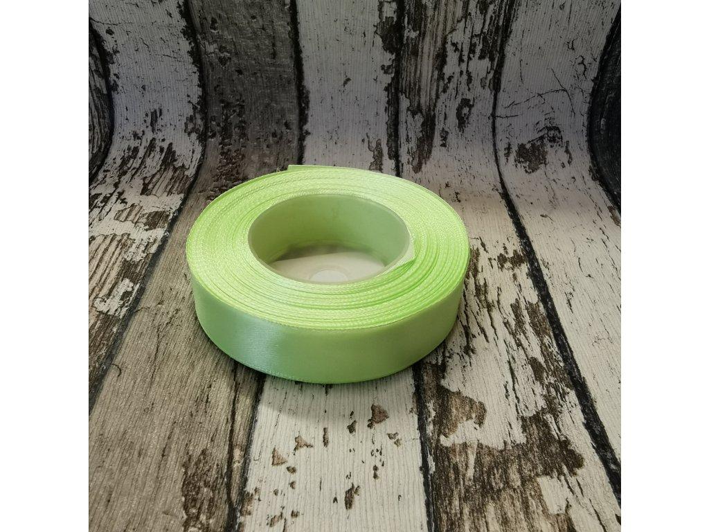 Stuha jednobarevná, zelené jablíčko, 18 mm