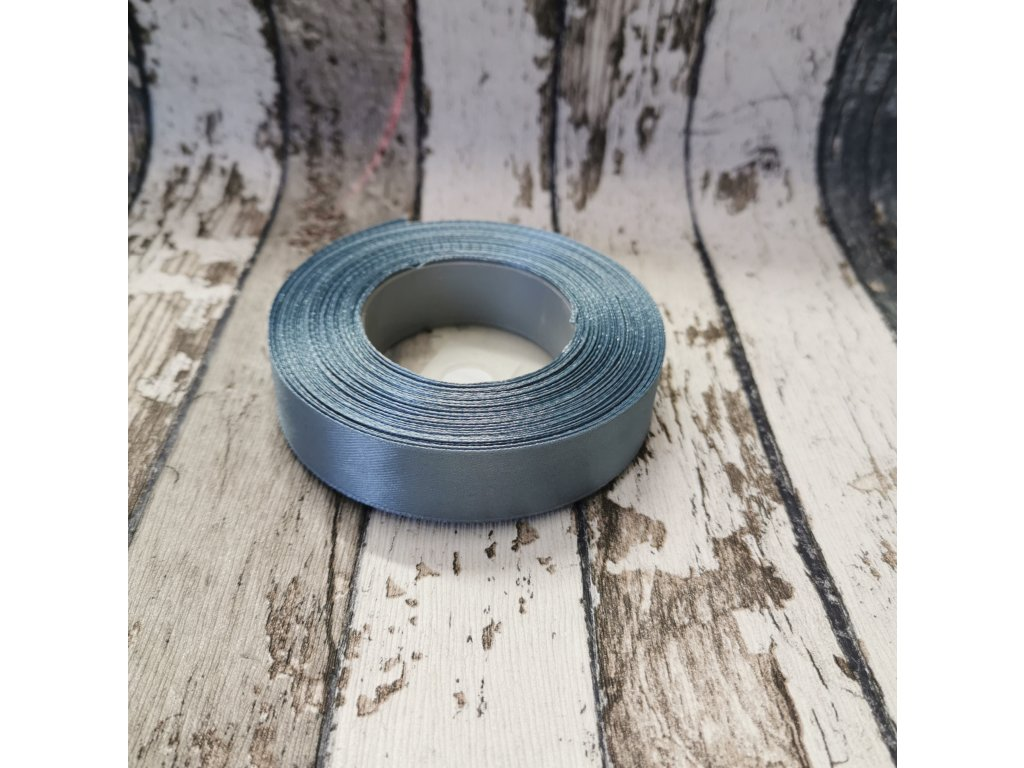 Stuha jednobarevná, šedá, 18 mm