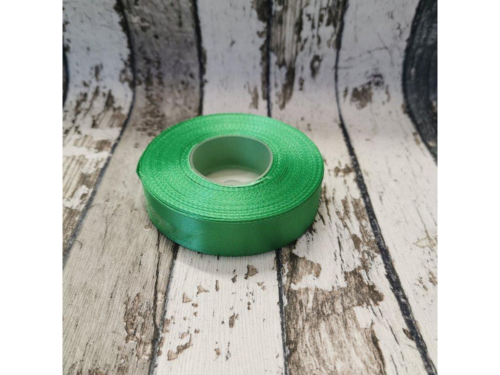 Stuha jednobarevná, zelená, 18 mm