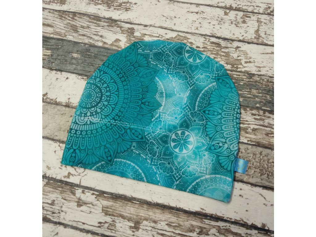 Rostoucí čepička Yháček, modré mandaly