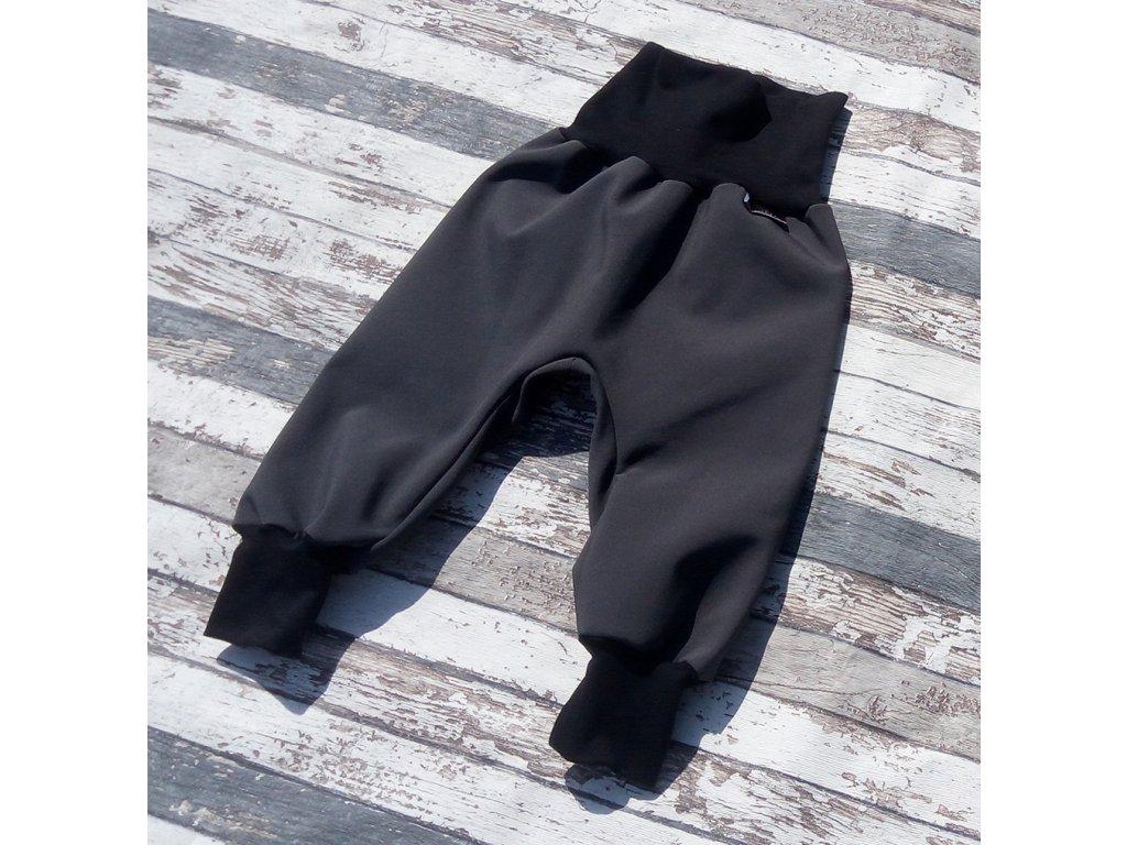 Softshellové kalhoty Yháček, zimní, šedá/černá