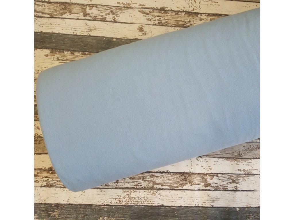 Fleece antipiling, 190 g, světle modrý, 612