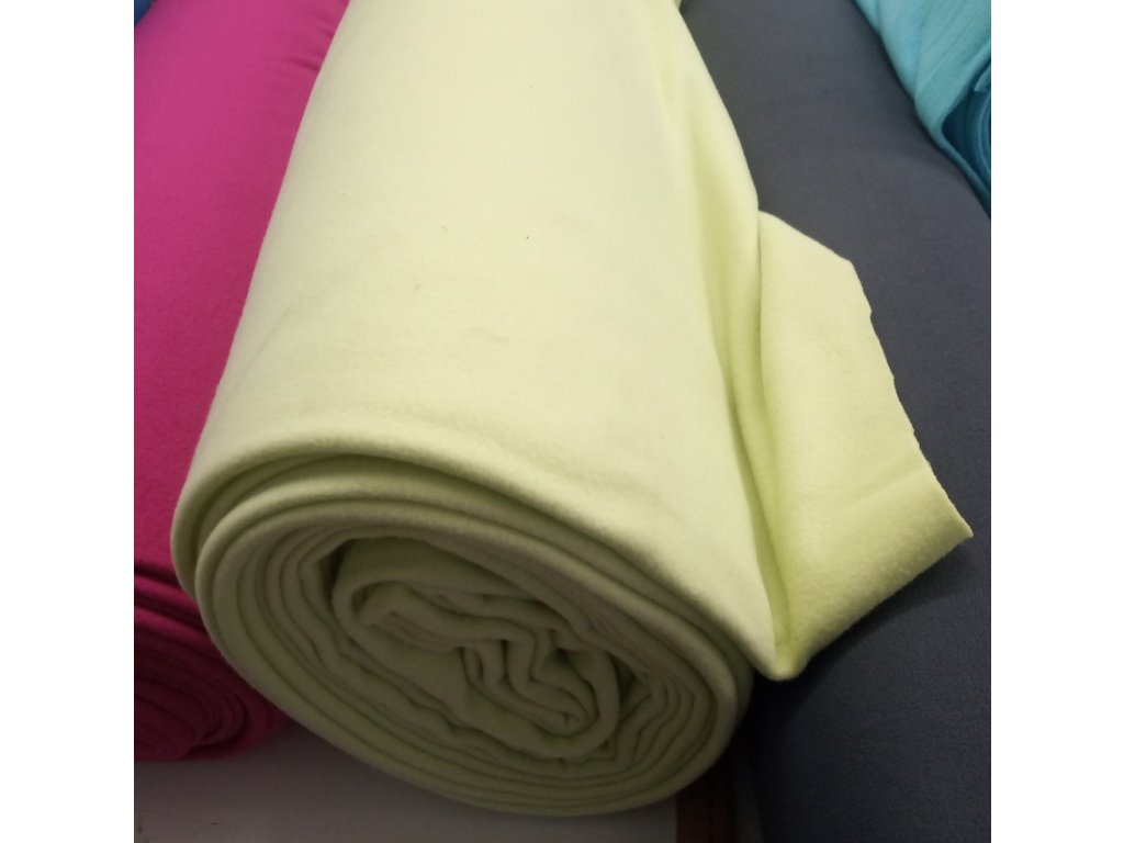 Fleece antipiling, 240 g, pistáciová, 729