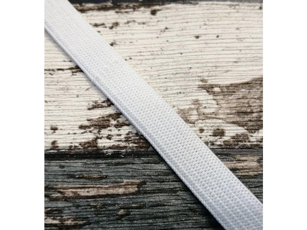 Hladká pruženka 12 mm - bílá