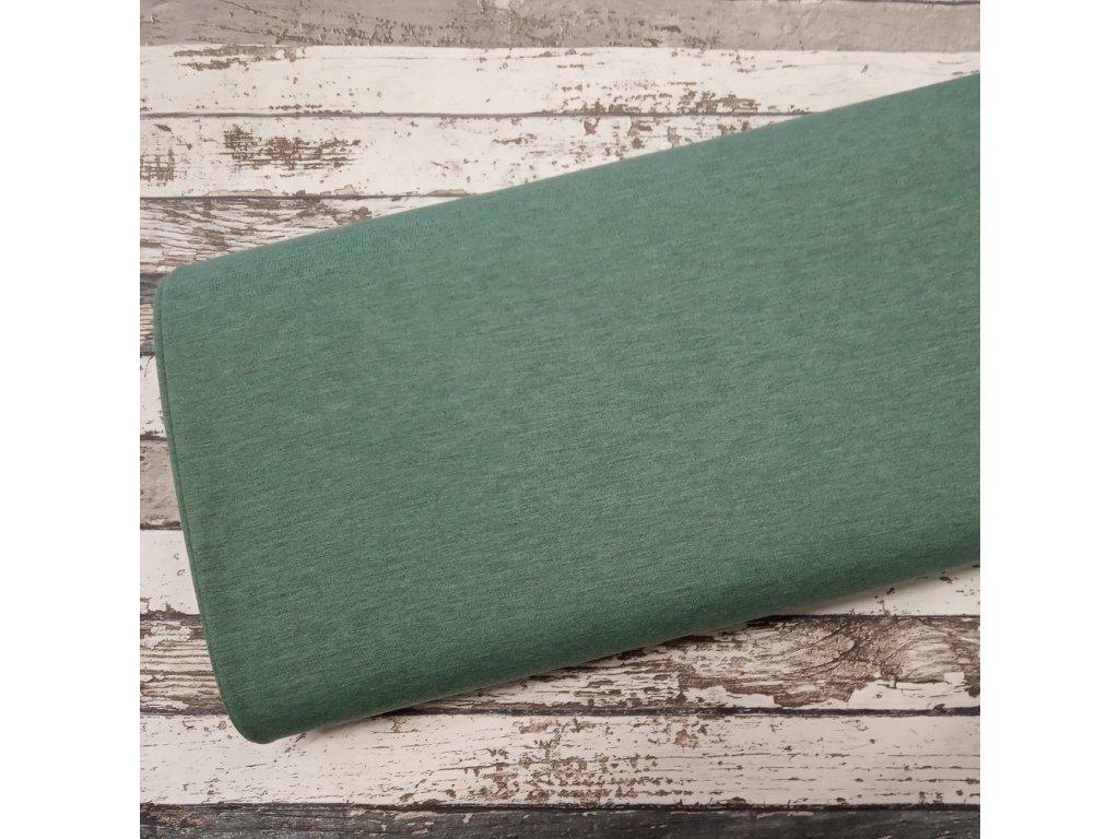 Teplákovina žíhaná, zelená