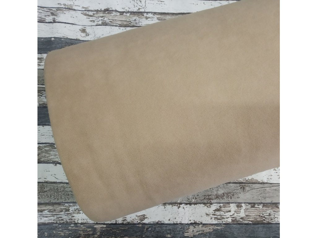 Fleece antipiling, 300 g, bílá káva, 577