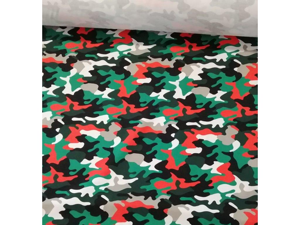 Teplákovina maskáč army, digi tisk