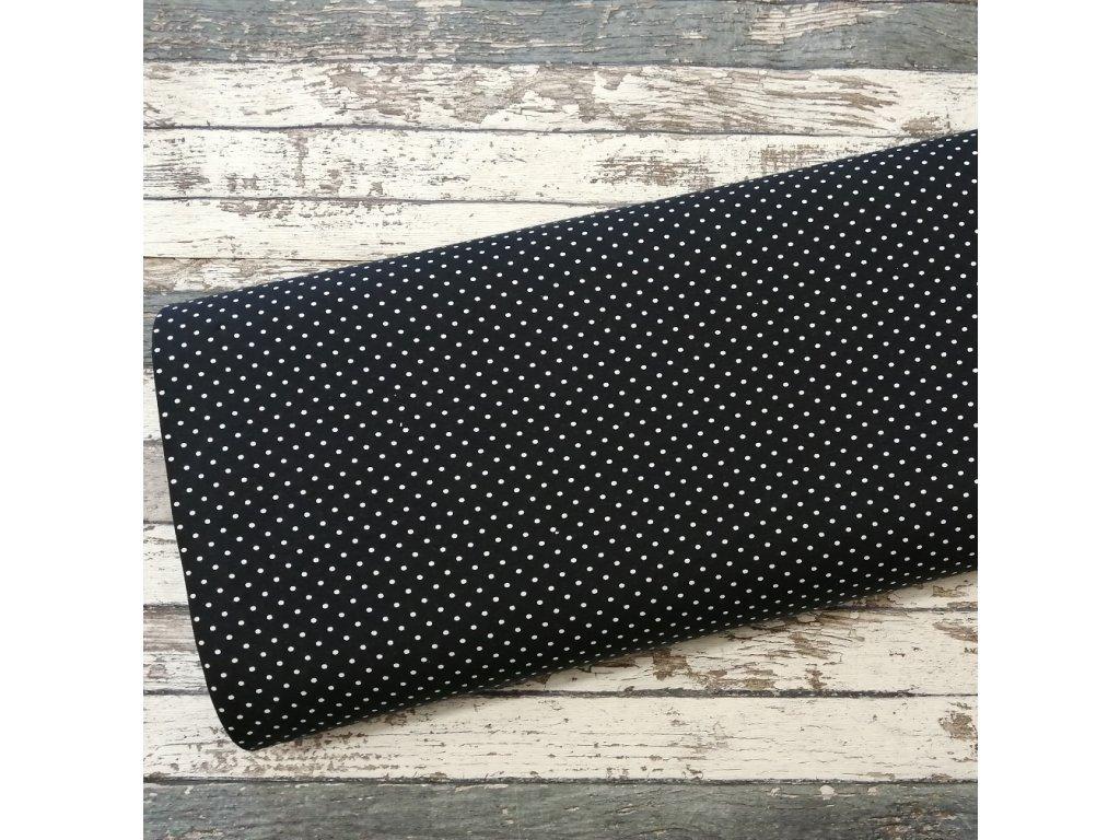 Úplet puntíky drobné, černá 069