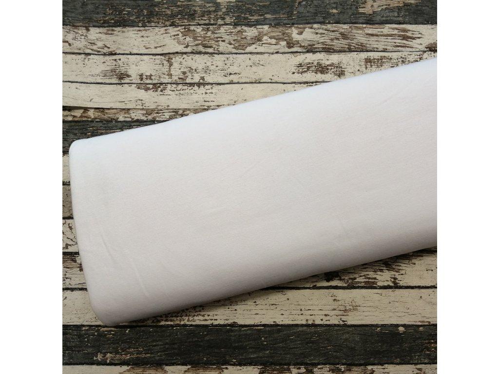 Teplákovina počesaná bílá, 050