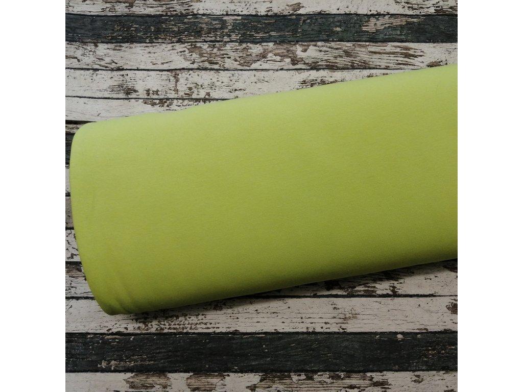 Teplákovina počesaná zelené jablko 023