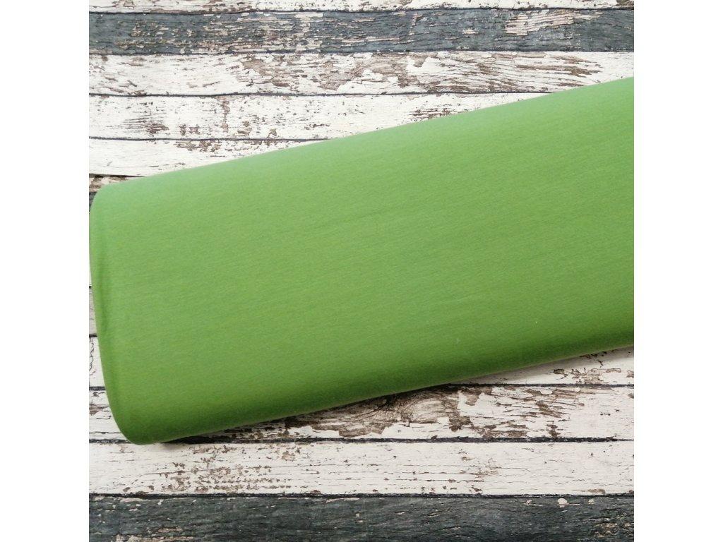 Teplákovina počesaná zelená 027