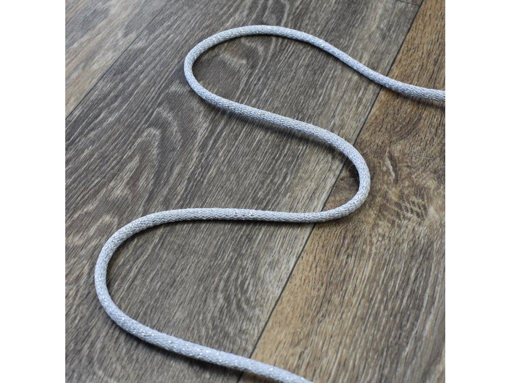 Šňůra se stříbrnou nití, 0,7 cm