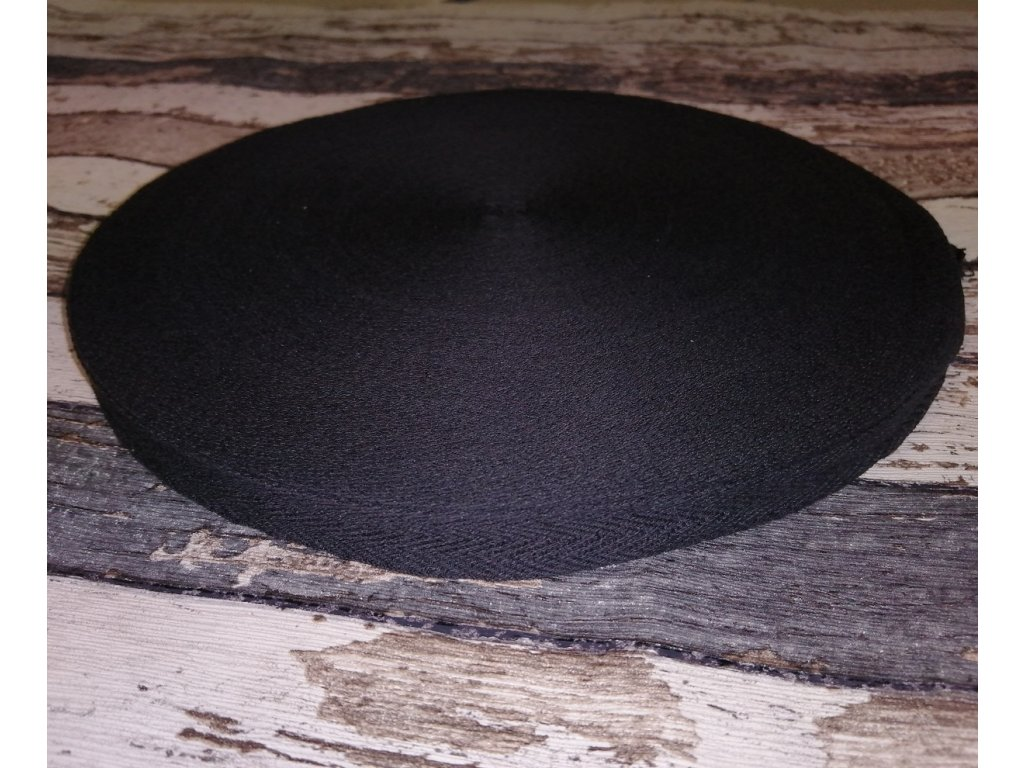 Keprovka, tkaloun, černá , 10 mm