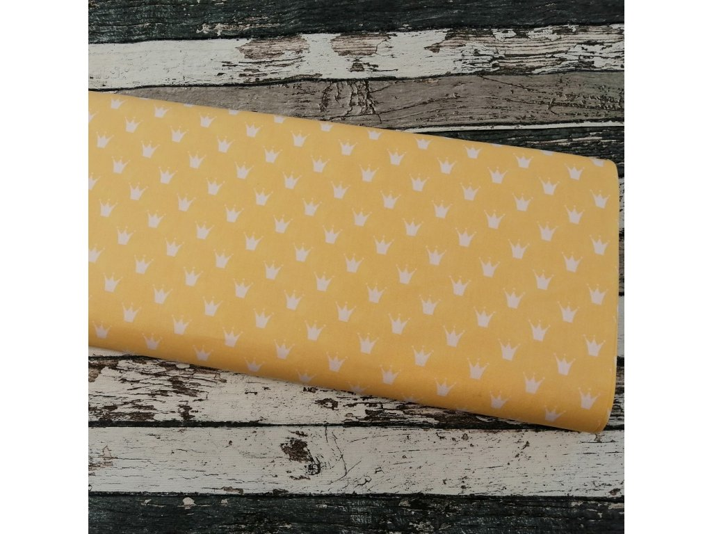 Plátno korunky na žluté
