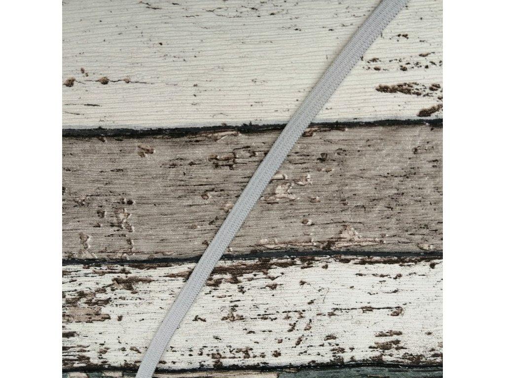Hladká pruženka 5 mm - šedá