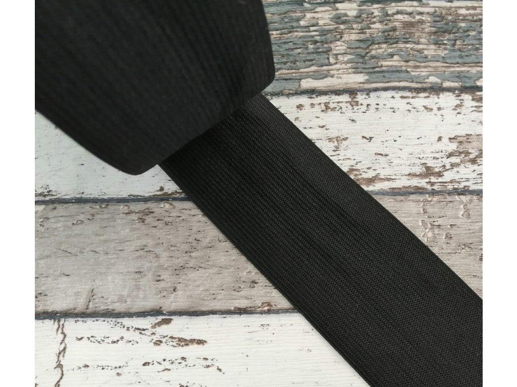 Hladká pruženka 50 mm - černá