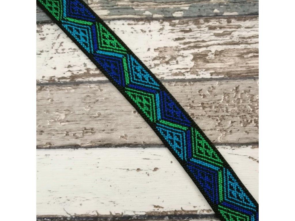 Aztécká pruženka, zelená