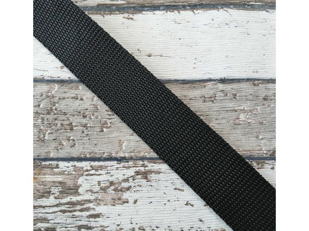 Popruh černý 20 mm