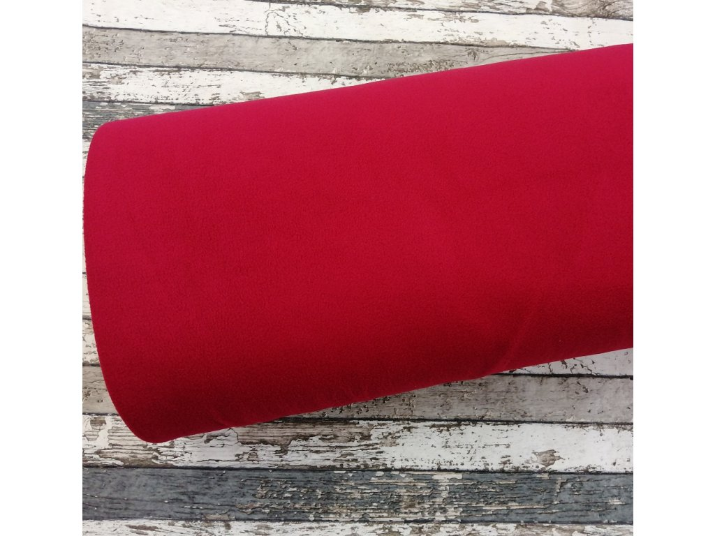 Fleece antipiling, 190 g, červený, 441