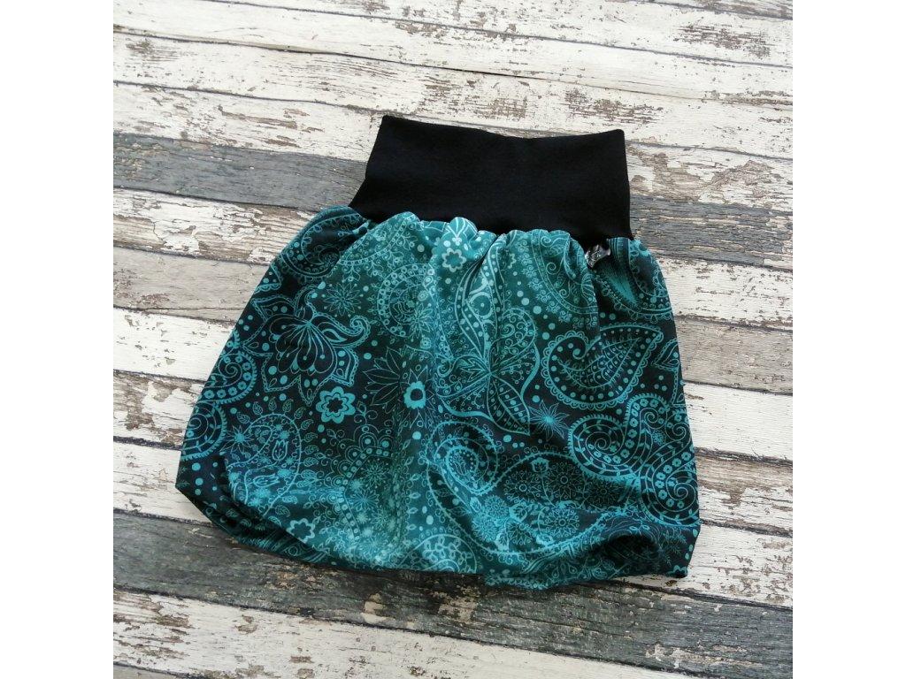 Balónová sukně Yháček, abstrakce