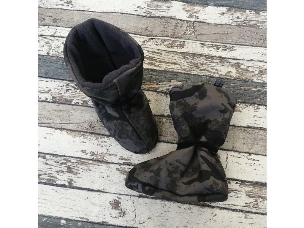 Nosicí botičky - válenky Yháček, maskáč 881