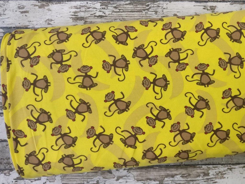 Úplet opičky na žluté