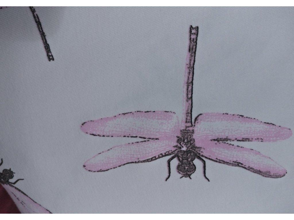 UV úplet, vážky růžové na bílé, 170 g
