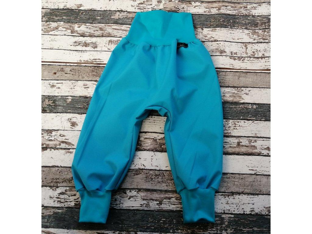 Softshellové kalhoty Yháček, letní, azuro/tyrkysové