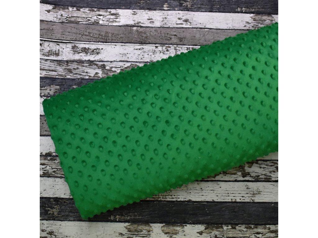 Minky, tmavší zelená/puntík 025