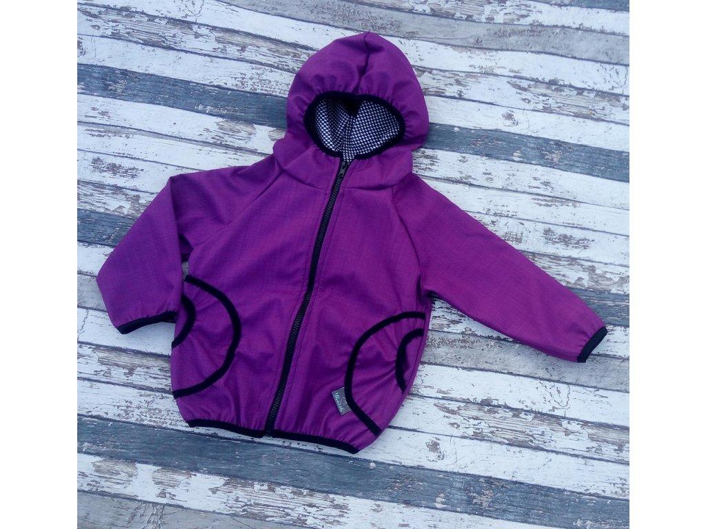 Softshellová bunda Yháček, podzim, fialová