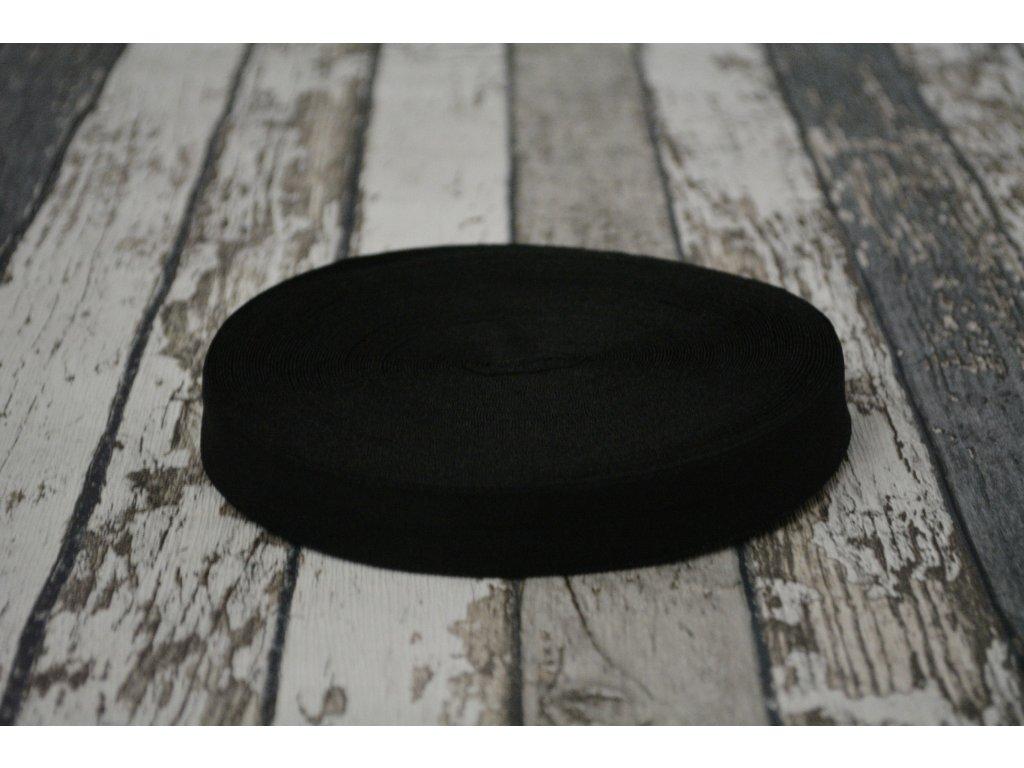 Pruženka půlená, černá 20 mm