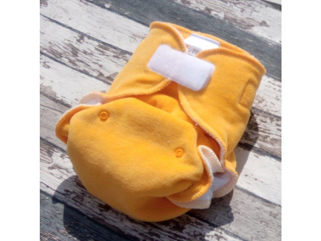 Kalhotková plena na SZ, velurka, žlutá